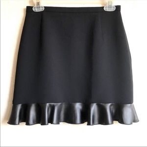 Sandro Paris black short skirt ruffle hem size 1